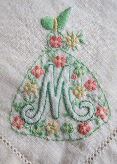 Vintage 30s napkins crinoline lady and letter by vintageartizania, $64.99