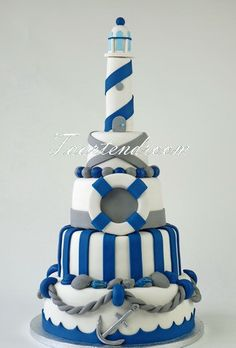 pinterest lighthouse cake | Nautical Party Ideas~ Graduations, Baby Showers, Beach parties or ...