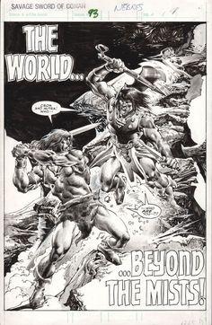Savage Sword of Conan #93 Splash, John Buscema