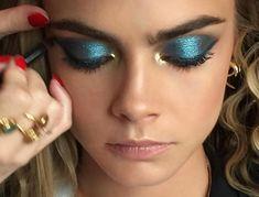 disco blue and gold for Cara Delevingne tonight Loading. disco blue and gold for Cara Delevingne tonight Makeup Inspo, Makeup Inspiration, Beauty Makeup, Makeup Ideas, Makeup Tutorials, Makeup Tips, Makeup Trends, Makeup Primer, Makeup Style