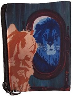 Salvador Kitti Cat Change Purse, Cat Coin Purse - From My Original Painting, Salvador's Reflection