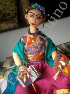 """Frida"" Hand made fabric doll.  Elsa Sanguino. 2012"