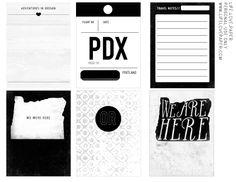 Image of *new* Oregon printable journal cards