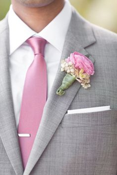 Men Will Be In A Dark Colored Grey Charcoal Slat Tuxedo No To Pink Accessories