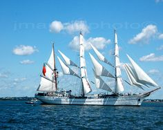 Tall Ship Under Sail 8x10 print by jmandelphoto on Etsy,