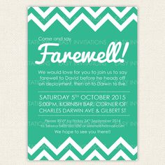 Free Printable Invitation Templates Going Away Party   Pinteres