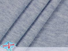 Strickstoff uni graublau meliert