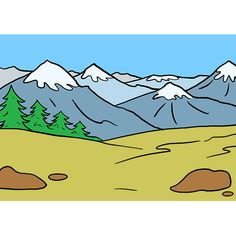 mountains draw drawing easy mountain step drawings really tutorial learn beginners looking templates health