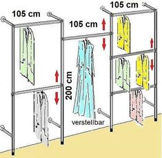 Master Walk in Closets & Organized Closet Space. Wardrobe Room, Walk In Wardrobe, Wardrobe Design, Closet Bedroom, Walk In Closet, Wardrobe Clothing, Pipe Closet, Art Clothing, Closet Space