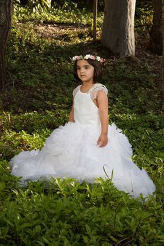 Check out this item in my Etsy shop https://www.etsy.com/au/listing/482041463/white-or-ivory-ruffled-flowergirl-dress