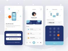 Great Wallet App Design Concept by antilustrations Ui Design Mobile, App Ui Design, Interface Design, User Interface, Desing App, Dashboard Design, Flat Design, Design Design, Dashboard Mobile