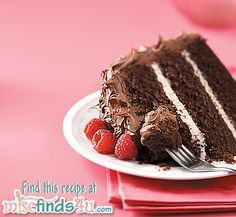 Recipe: Raspberry Chocolate Buttermilk Cake with Chocolate Raspberry Cream Cheese Frosting