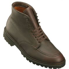 Alden Men's Indy Boot High Top Blucher Workboot - Dark Brown Kudu