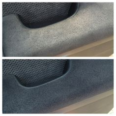 Had to try it! Dirty micro suede? Couches.. Car arms!! Just use alcohol in a spray bottle & a scrub brush! Totally works!