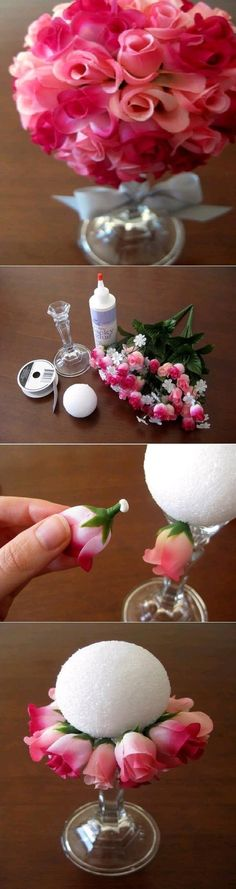 Floral Centerpiece: You could get most (if not all) of these items at the dollar store!