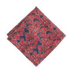 """This silk pocket square was crafted by the esteemed Drake's London company (its designs are considered the gold standard on Savile Row) and makes the perfect finishing touch to any polished look. <ul><li>16 1/2""""L x 16 1/2""""W.</li><li>Silk.</li><li>Made in the United Kingdom.</li></ul>"""