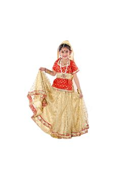 We provide radha rani lehenga costumes for boy & girl in Noida, Buy and rent radha rani lehenga fancy dresses online in Delhi for Kids school annual functions or other cultural programs. Fancy Dress Online, Dresses Online, Golden Lehenga, Golden Red, Radha Rani, Boy Costumes, Delhi Ncr, Lehenga Choli, Dressing