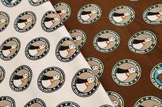 【楽天市場】10番キャンバス 水玉ペンギン柄[f1kts-3600]:日暮里トマト 生地の店
