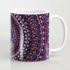 Mandala peace blue pink Coffee Mug by laurafrere Pink Coffee Mugs, Love Blue, Peace, Tableware, Mandalas, Dinnerware, Pink Coffee Cups, Tablewares, Dishes