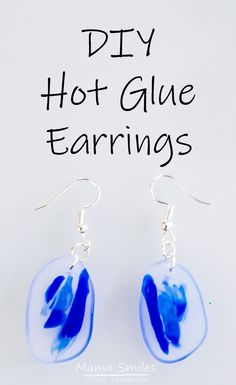 These DIY earrings are easy to make, and you'd never guess that they're made out of hot glue! You'll love this simple hot glue earrings tutorial. craft tutorial hotglue earrings gluegundiy glueguncrafts Thanks for the glue ! Diy Earrings Easy, How To Make Earrings, Earrings Handmade, Handmade Jewelry, Diy Jewelry Unique, Diy Jewelry To Sell, Jewelry Crafts, Jewelry Ideas, Earrings Crafts