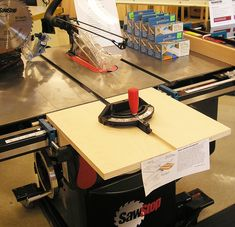 Table Saws Miter extension on a table saw improves capacity and safety when cross cutting wide stock