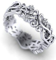 Unusual wedding ring commission