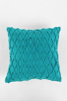 Plum & Bow Diamond Chenille Pillow turquoise/taupe pillows, coral curtains
