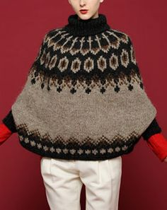 Today this kit just arrived from VOGUE :-) I'm planning to begin to knit this poncho from this weekend.Icelandic wool ?