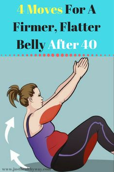 4 Moves For A Firmer, Flatter Belly After 40 is part of fitness - When you reach the age of forty, it becomes difficult to keep track of your body The thing is that your body may respond differently to diet and trainings Band Workouts, Fitness Workouts, Fitness Tips, Senior Fitness, Toning Workouts, Health Tips For Women, Health Advice, Health Diet, Health Fitness