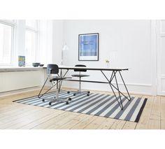 Fabula Nigella tæppe - Koksgrå/Grå - Håndvævet Kelim 170x240 cm