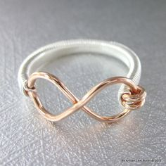As Seen On Vlogger Kendall Alfred Hand Crafted Copper Infinity Ring Wire Wrapped Jewelry, Wire Jewelry, Jewelry Crafts, Jewelry Rings, Wire Rings, Jewelry Ideas, Handmade Copper, Handcrafted Jewelry, Graduation Jewelry