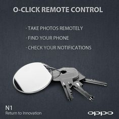 The O-Click is both a technological innovation and a fashionable addition to your key ring. #OPPON1