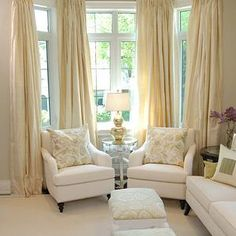 Seating In Your Living Room Bay Window But Not White