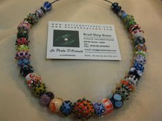 Hand Made Glass Beads Art Necklaces