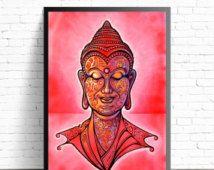 Yoga Home Decor, Buddha Wall Art, Buddha Poster, Yoga Art Print, Oil Painting Print, Yoga Poster Print, Meditation Art, Buddha Painting,