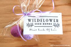 Gift your guests with an eco-friendly memento of your garden wedding with DIY Seed Bomb Wedding Favors!