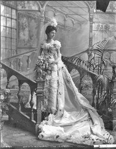 Baroness Christine Marie Ludmilla von Linden in court presentation dress, 1898