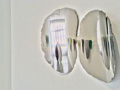 Nori Sculpture murale  Inox poli Exposition à l'espace d'art contemporain Camille Lambert 2020 Oeuvre D'art, Les Oeuvres, Sculptures, Camille, Mirror, Delaware, Abstract, Artwork, Promotion