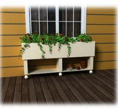 Free Standing Planter Box Garden Pinterest Window