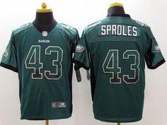 Men's Philadelphia Eagles #43 Darren Sproles Nike Drift Fashion Green Elite Jersey