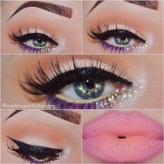 i love this makeup! Kiss Makeup, Glam Makeup, Love Makeup, Makeup Tips, Makeup Looks, Hair Makeup, Makeup Ideas, Fantasy Make Up, Beauty Games