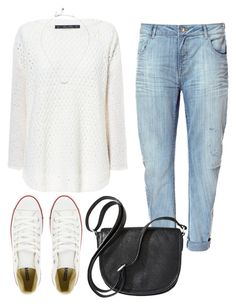 """Untitled #453"" by ammemma ❤ liked on Polyvore featuring Zara, Converse, Merona and Kate Spade"