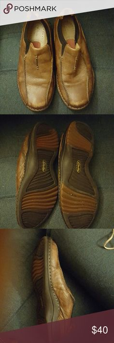 Clarks Tan Clarks Shoes Loafers & Slip-Ons