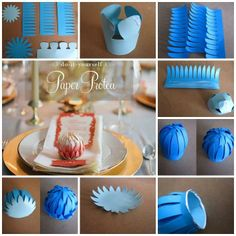 DIY Paper Protea Diy Paper, Paper Art, Paper Crafts, Origami Decoration, Crepe Paper Flowers, Flower Making, Artificial Flowers, Flower Power, Wedding Flowers