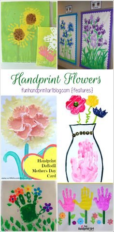 14 Flower Crafts made with little hands & feet