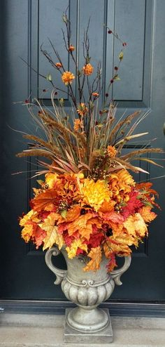 fall urn ideas for front porch