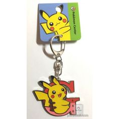 Pokemon Center 2017 Pikachu Keychain (Version G)