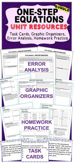 This UNIT RESOURCE BUNDLE includes 40 task cards, 10 error analysis ...