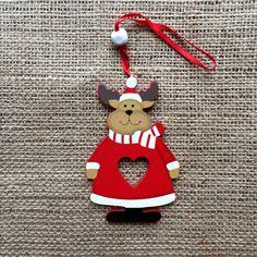 Christmas Decoration Wooden Heart Reindeer Christmas Decorations, Christmas Ornaments, Holiday Decor, Wooden Hearts, Elf On The Shelf, Moonlight, Reindeer, Handmade, Design