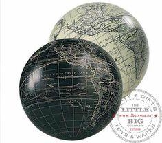 Black Sphere, World Globe, Earth globe | Centre Pieces   $13 ea  The Little Big Company Pty Ltd
